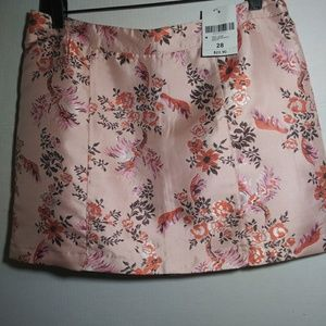 NWT Forever 21 Pink Brocade Mini Skirt